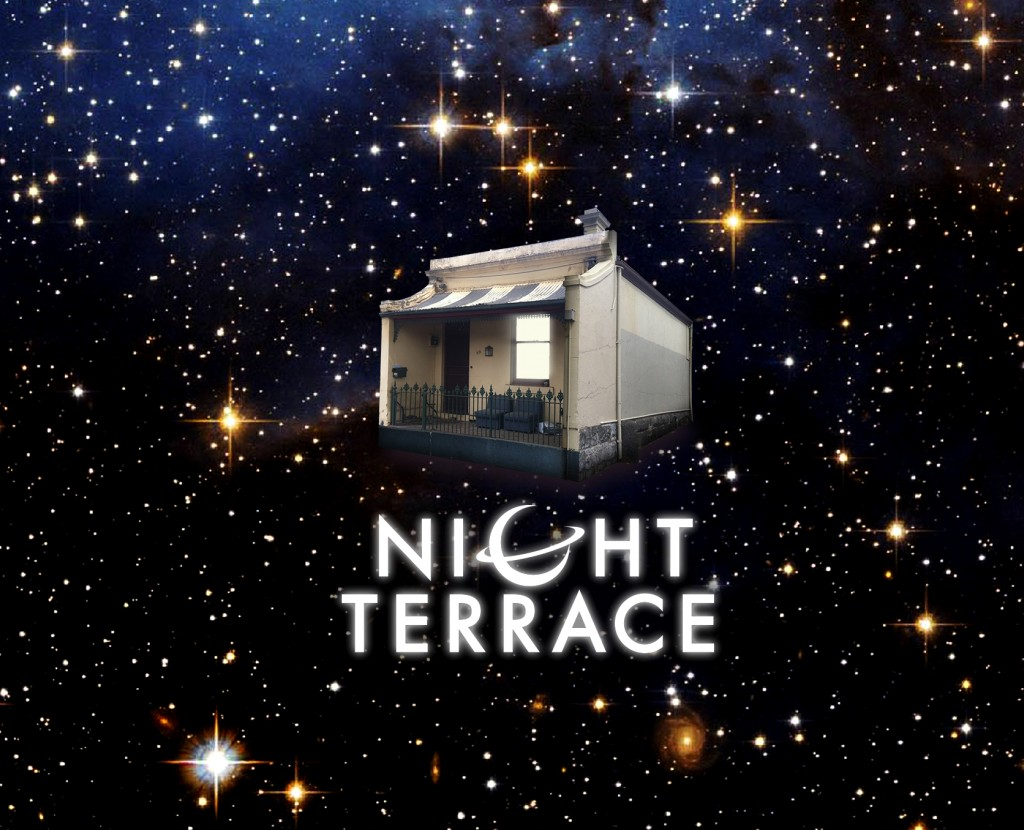 Night Terrace house and logo