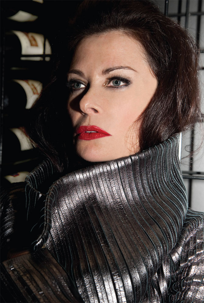 jane-badler-silver-sweater